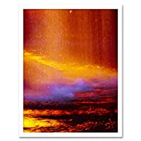 Abstract Waterfall Flood Seascape Art Print Framed Poster Wall Decor 12x16 inch 抽象水シースケープポスター壁デコ