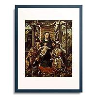 Colijn, Coter de,1528- 「Die Anbetung der Hl.Drei Konige」 額装アート作品