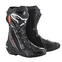 Alpinestars アルパインスターズ Supertech R スーパーテック ブーツ ベンテッド黒ダークグレー蛍光赤/EU44 [並行輸入品]