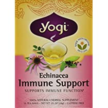 海外直送品Yogi Teas / Golden Temple Tea Co Echinacea Immune Support Tea, 16 Bags