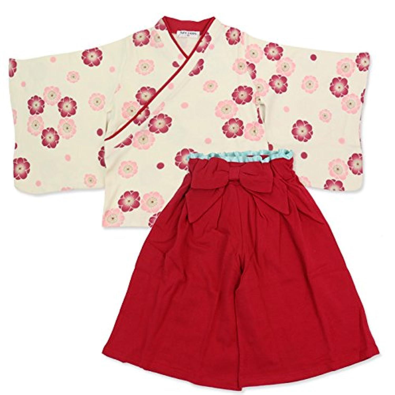 ベビー キッズ 袴風 女の子 2点 セット 茜色 120cm 1064100607RE120