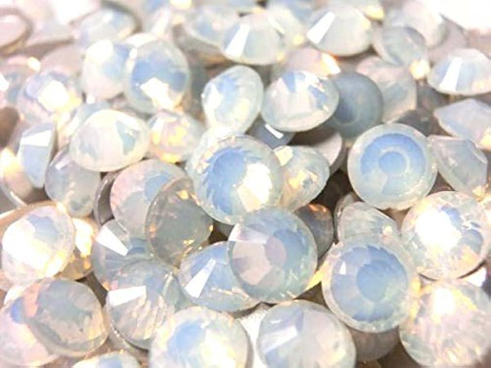 嘆願水分政策【ラインストーン77】 超高級 ガラス製ラインストーン SS3~SS34 ホワイトオパール スワロフスキー同等 (2.6mm (SS10) 約1440粒)