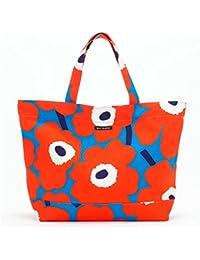 マリメッコ marimekko バッグ レディース トートバッグ ハンドバッグ KOKO ブルー/オレンジ 046451-351 UNIKKO PIENI
