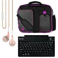 Asus ZenPad 10 / MeMO Pad 10 / Transformer Pad 10 / VivoTab 10.1インチタブレット+ Bluetoothキーボード+ヘッドフォン用VanGoddy Pindarメッセンジャーキャリングバッグ