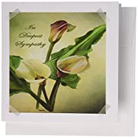 Taiche–Sympathy–Calla Lilies–で最も深いSympathy–Calla、Calla Lilies、カラーリリー柄、カラス、easter lily、花、ライラック、ユリ–グリーティングカード Set of 12 Greeting Cards