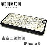 モエコ・moeco 東京回路線図 iPhone 6 / 6s ケース 白 TOKYO iphone6 CASE W