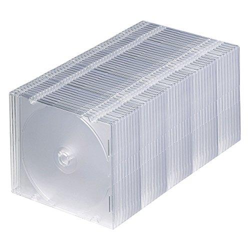サンワサプライ 1枚収納×50 スリムBD DVD CDケース クリア FCD-PU50C