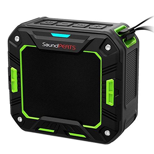 SoundPEATS サウンドピーツ Bluetooth スピーカー IP65等級防塵防水対応【メーカー1年保証付】10時間連続再生 耐衝撃 マイク搭載 通話可能 ブルートゥース スピーカー Bluetooth Speaker P2 オリーブグリーン