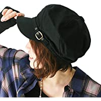 ピースクロージング 飾りベルト付き キャスケット コットン BM レディース 帽子 春夏 秋冬 UVカット 紫外線対策 シンプル つば付 カジュアル