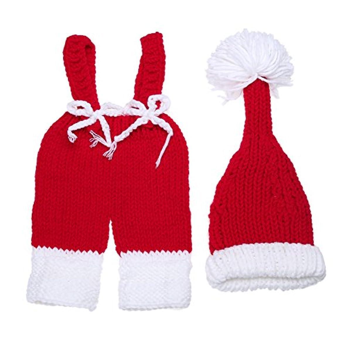 軽減する重要同情Bestjpshop 可愛い 新生児 赤ちゃん ニット 写真撮影 コスチューム 着ぐるみ スタジオ撮影衣類  クリスマス帽子セット 手作り 写真の小道具 3-4M