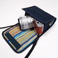 suono(スオーノ) LUMIX GF10/GF9ケース(ネイビー)-- 単焦点レンズ用(カラビナ付) --ハンドメイド