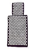 白アンチエイジング ロータス ユーロ マット指圧マット ・枕 - プレミア指圧マット - 記憶泡、いいえ接着剤・非アレルギー性の染料と EU の基準にのみマット ・枕手がヨーロッパで行われました。仕事に鍼によって設計