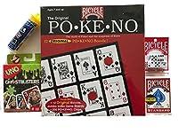 ファミリーゲームNight 。Pokeno、Ghostbuster Edition UNO、LCR、5パックDice & Bicycle Playing Cards