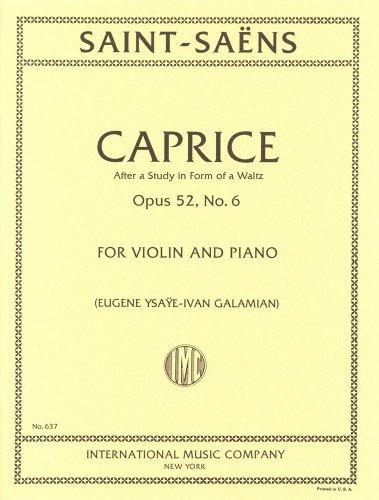 サン=サーンス : カプリス Op.52/6/イザイ & ガラミアン編/インターナショナル・ミュージック社/ピアノ伴奏付バイオリン・ソロ楽譜