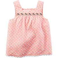 Carter's Girl Embroidered Coral Print Tank Top (4)