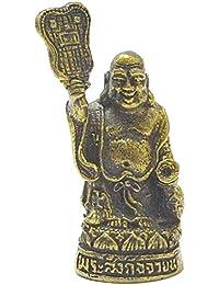 ジュエリーギフトHappy Buddha Sangkajai HoteiタイLucky Gamble Magic Mantra Real Amuletペンダント