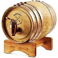 Refinery and Coミニチュア木製ウイスキーバレルディスペンサー& Mini Infuser 800ml / 27fl ozボリューム、Serving、テーブルホームアクセント表示、& Spiritsのストレージの、Liquors ; Great gift for Men and Women