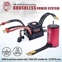サーパスKKシリーズ防水ブラシレス4068 2050KVモーター+防水ブラシレス150A ESC(1/8 RCカー用)