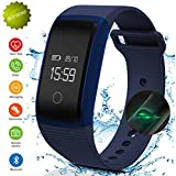 Fitness Tracker,IP67 Waterproof Sports Smart Wristband with Blood Oxygen Monitor/Blood Pressure/Heart Rate Monitor for Android Phone and iOS iPhone(Clearance Sale)