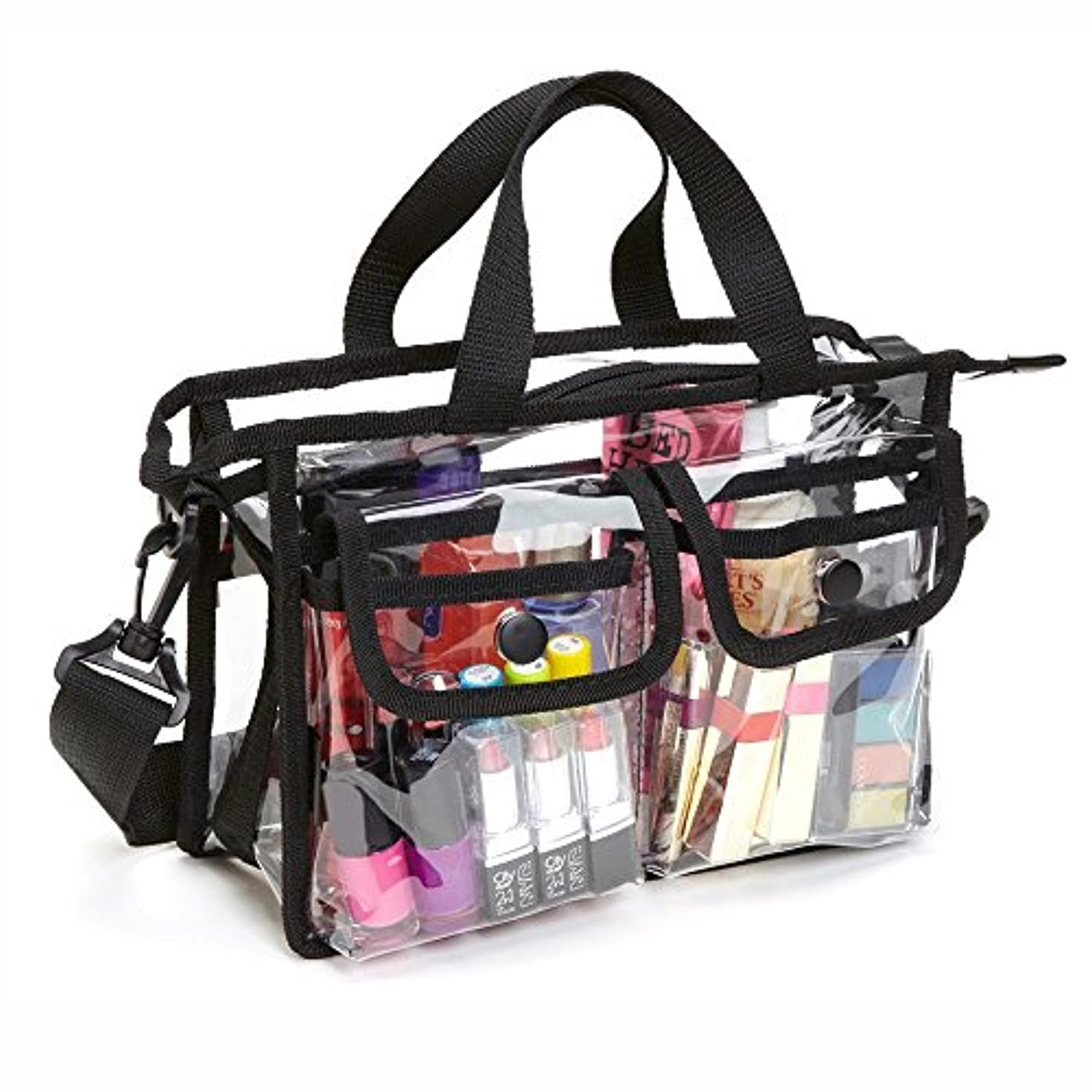 視力脅迫耐えられないメイクバッグ Akane EVA ショルダーバッグ 透明 お風呂 防水 厚く 家用 便利 旅行 ビーチ 化粧バッグ