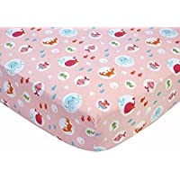Carter's Sea Collection Fitted Crib Sheet Pink/Blue/Turquoise (Discontinued by Manufacturer) [並行輸入品]
