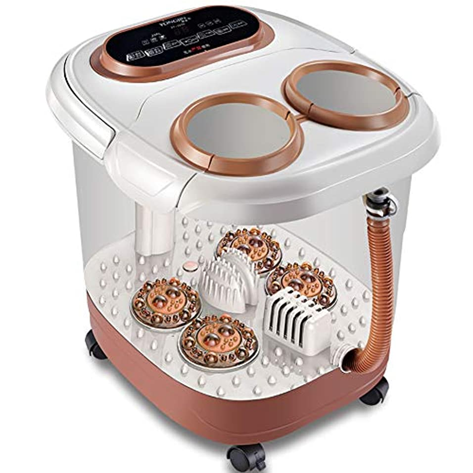 過敏な一般的に水銀の家計 自動 フットバス,足湯 ハンドル付き,サーモスタット オールインワン 熱泡振動 3 の 1 機能-a 45x45x38cm(18x18x15inch)