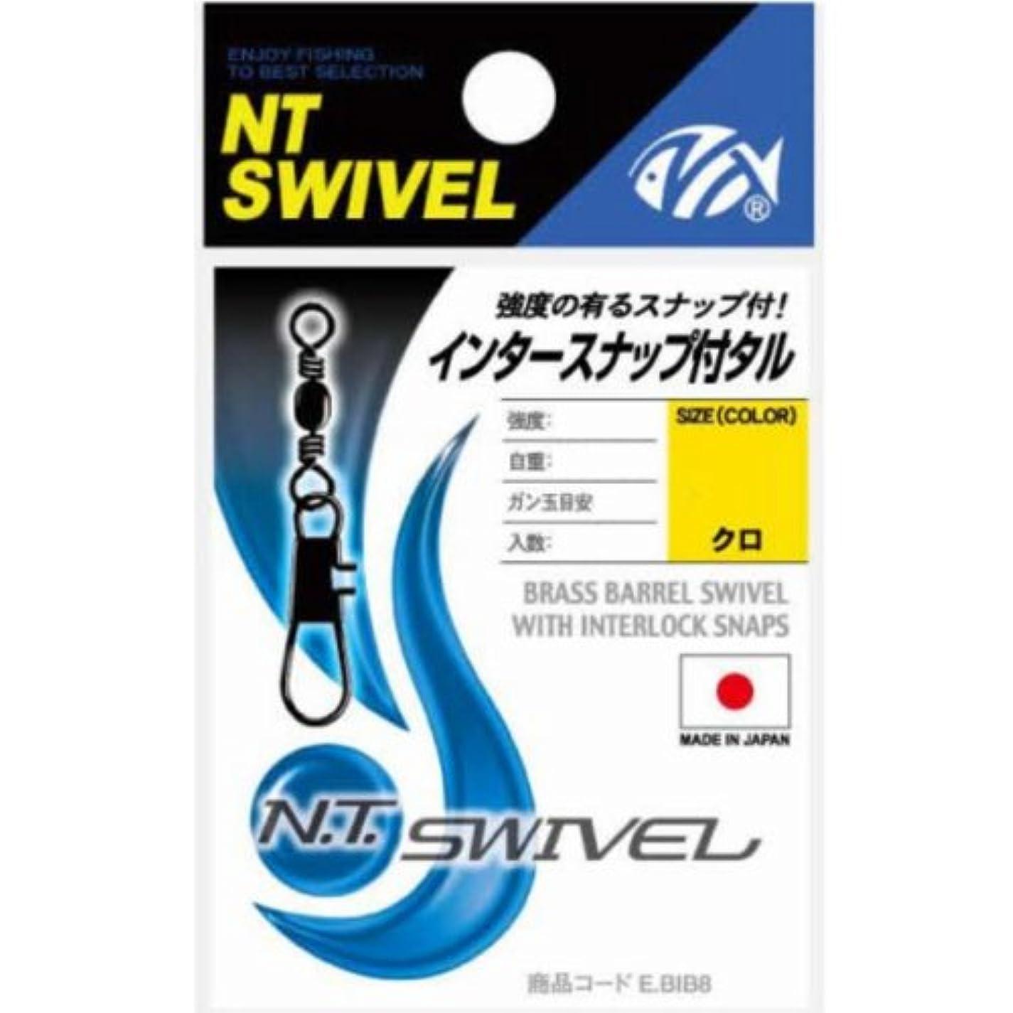 ふざけた参加者プラカードNTスイベル(N.T.SWIVEL) インタースナップ付タル クロ #3