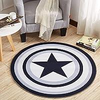 Carpet カーペットラウンドホームリビングルームコーヒーテーブルベッドルームベッドサイドマットベッドフロントハンギングバスケットコンピュータチェアクッション A+ (色 : 3#, サイズ さいず : 80 x 80 cm)