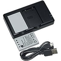 互換バッテリー DSTE EN-EL5 バッテリーパック 2個(大容量 1700mAh/3.7V) + 充電器 セットUSB 急速充電 Nikon Coolpix P510 P520 P530 P5100 P6000 S10 P3 P4 P80 P90 P100 P500 に対応