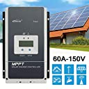 Y H 60A MPPTソーラーチャージコントローラー 48V 36V 24V 12V LCD充電コントローラー DC150V ソーラーパネル バッテリレギュレータ Tracer 6415AN Series ソーラー コントローラー (Epever MPPT Charge Controller)