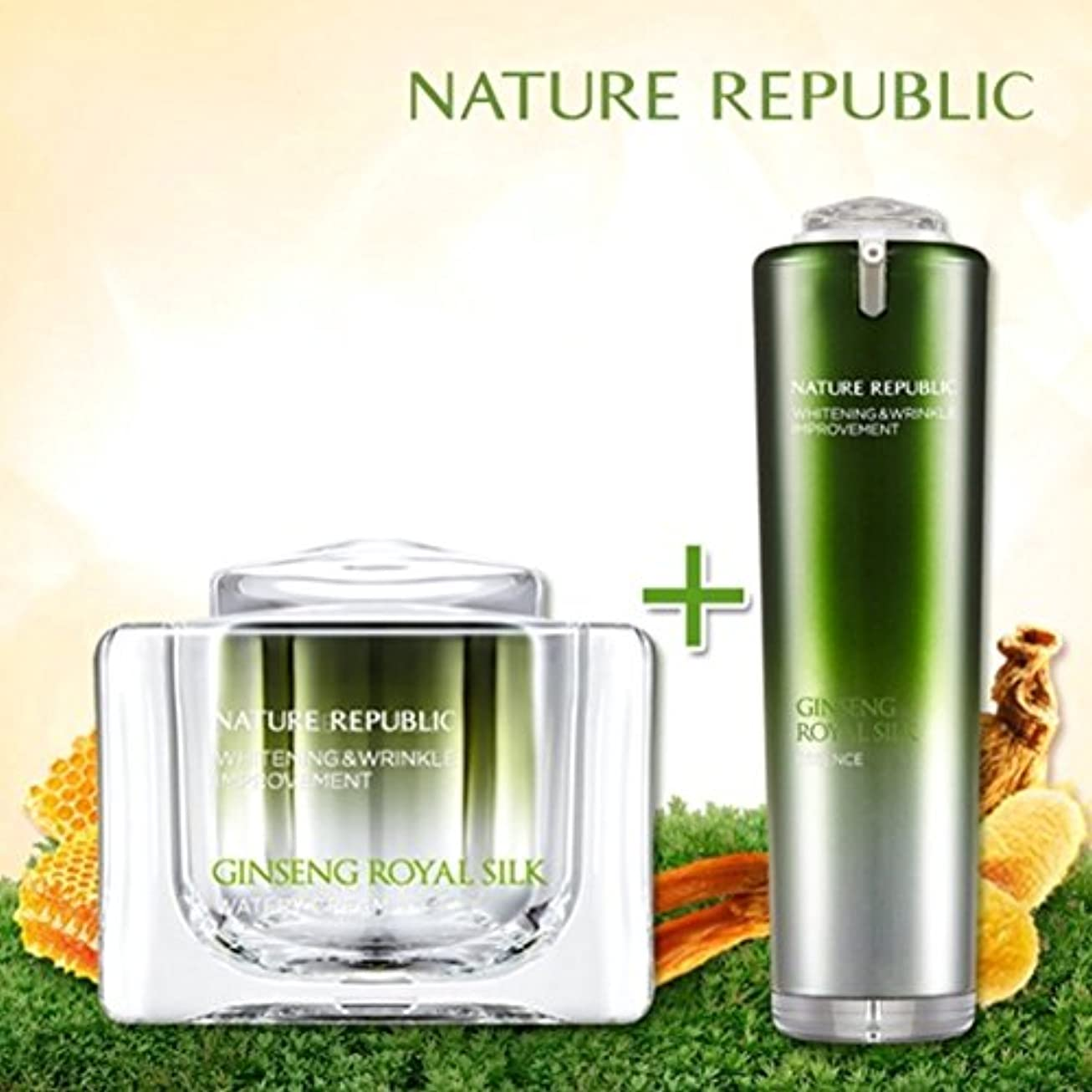 バズ作業NATURE REPUBLIC/高麗人参ロイヤルシルクウォーターリークリーム+エッセンス Nature Republic、Ginseng Royal silk Watery Cream+Essence(海外直送品)