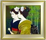 ◆清水達三◆【二人舞妓】 直筆日本画 20号◆共シール