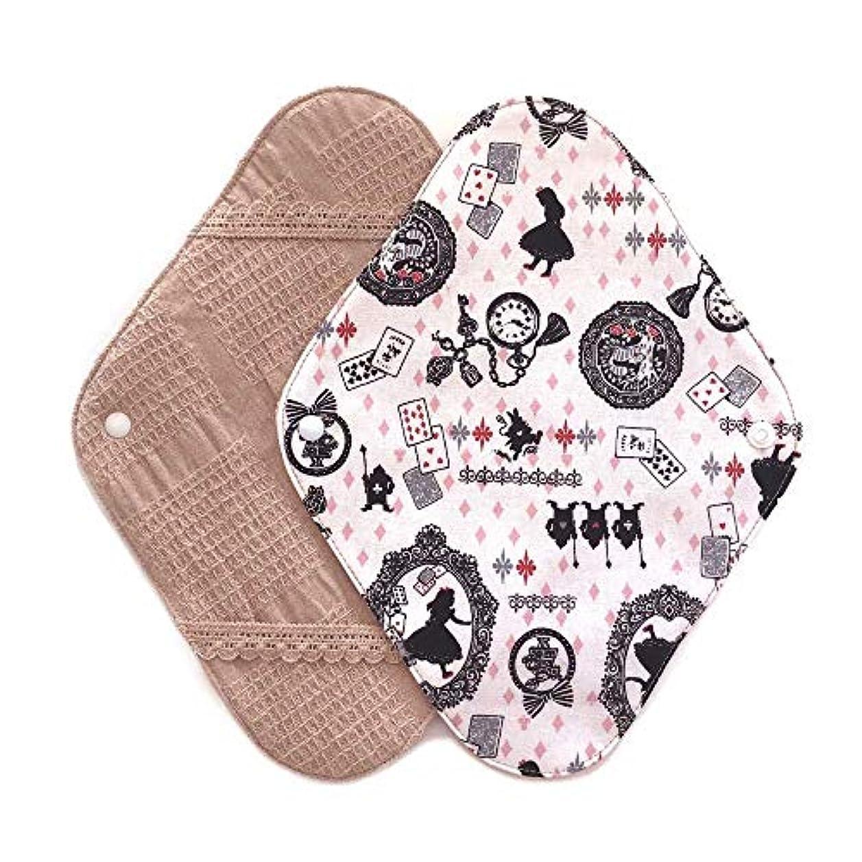 決定するきしむ空の華布のオーガニックコットンの布ナプキンホルダー (約17×約23×約0.3cm) アリスピンク