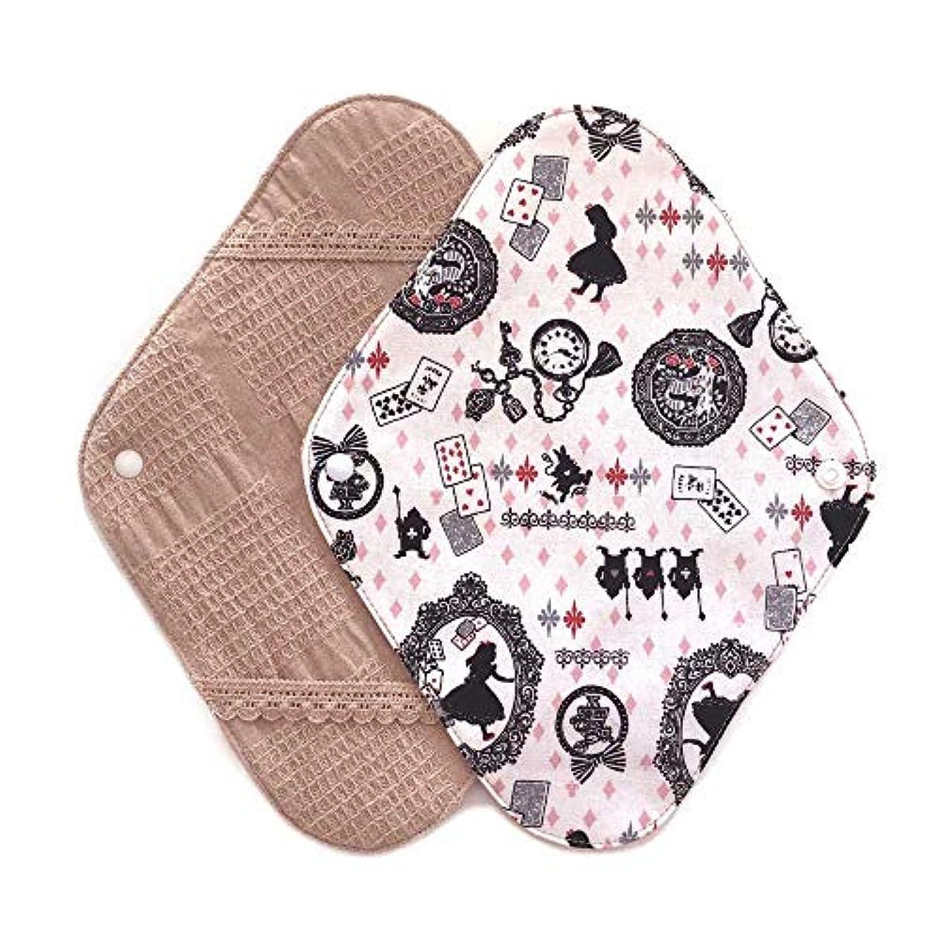 航空会社乳剤データ華布のオーガニックコットンの布ナプキンホルダー (約17×約23×約0.3cm) アリスピンク