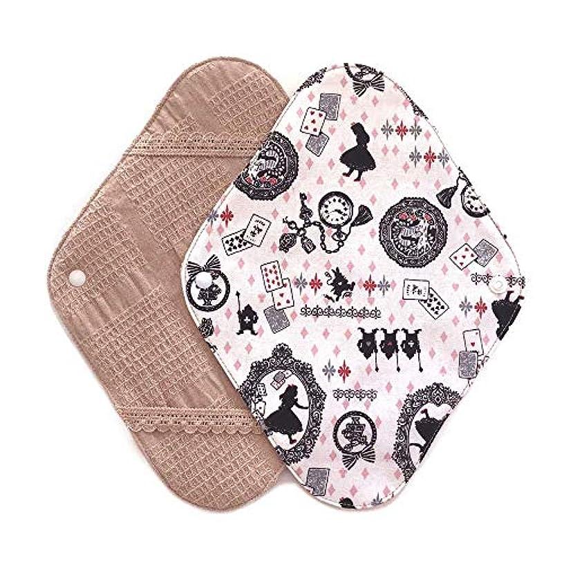 華布のオーガニックコットンの布ナプキンホルダー (約17×約23×約0.3cm) アリスピンク