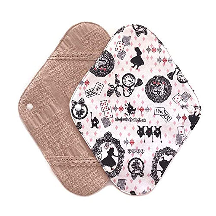省ちっちゃいマニフェスト華布のオーガニックコットンの布ナプキンホルダー (約17×約23×約0.3cm) アリスピンク