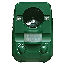 猫よけ AngLinkアニマルバリア 動物撃退器 超音波ソーラー式 IP44防水防塵 超音波とLED強力フラッシュライト