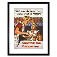 War Propaganda WW2 Grow Your Own Food USA Vintage Advert Framed Wall Art Print アメリカ合衆国