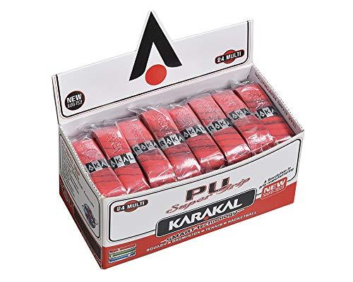 KARAKAL(カラカル) グリップ 全ラケットスポーツ対応 PU SUPER GRIP 24 Multi 赤 24個1セット KJ 666R 赤
