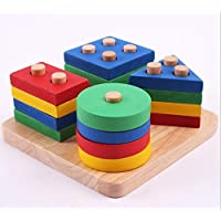 木製教育玩具、ジオメトリインテリジェンスボード、子供の早期教育モンテッソーリ教育エイズ幾何ソート