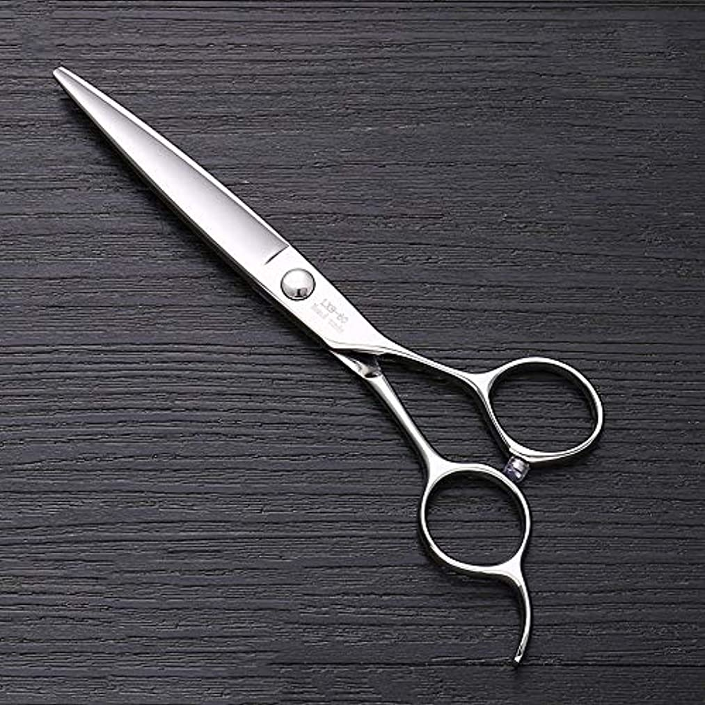 リーダーシップウガンダ風刺6インチ440 Cステンレス鋼はさみ理髪はさみ、ハイエンドファッション理髪はさみ モデリングツール (色 : Silver)