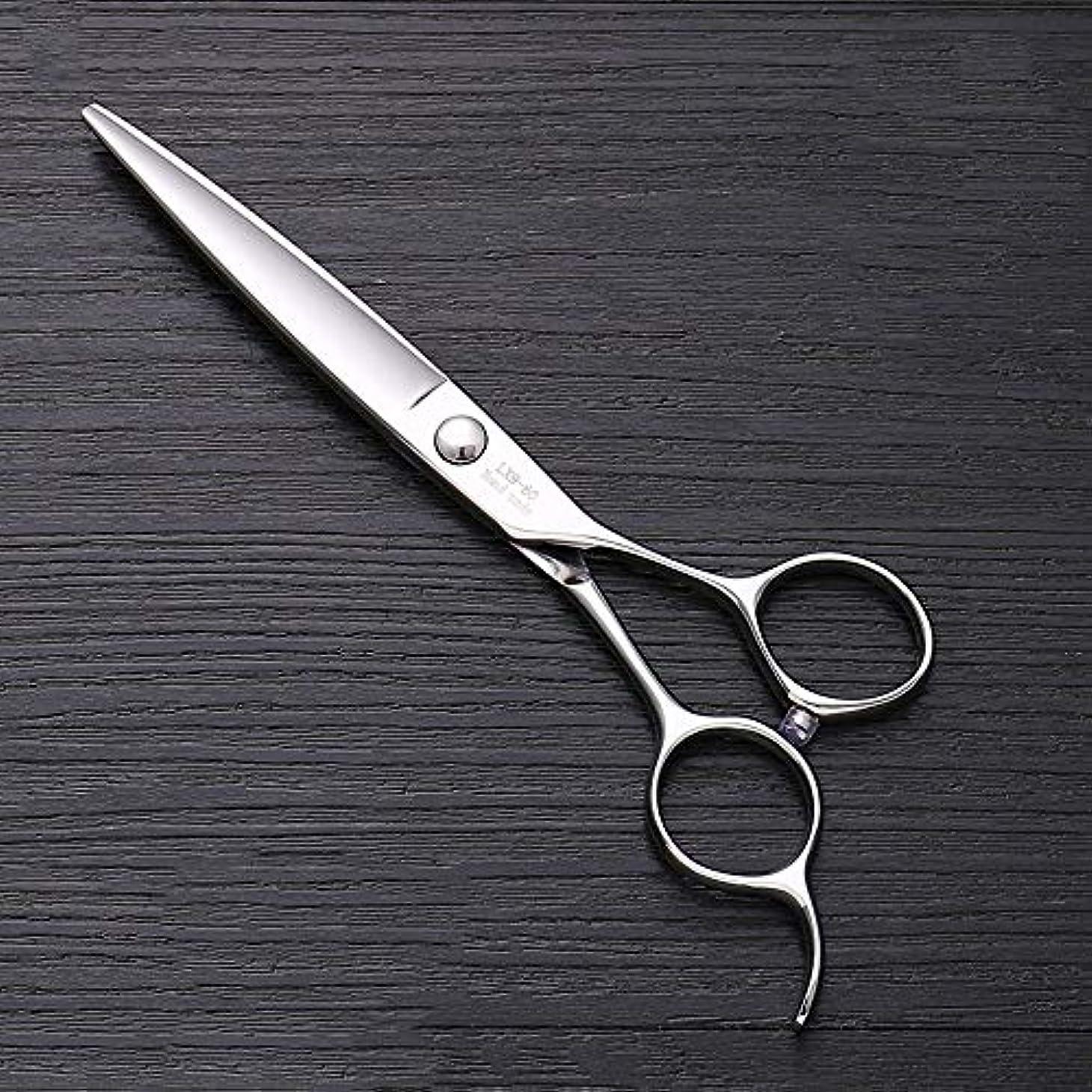 想定保守的貯水池6インチ440 Cステンレス鋼はさみ理髪はさみ、ハイエンドファッション理髪はさみ ヘアケア (色 : Silver)
