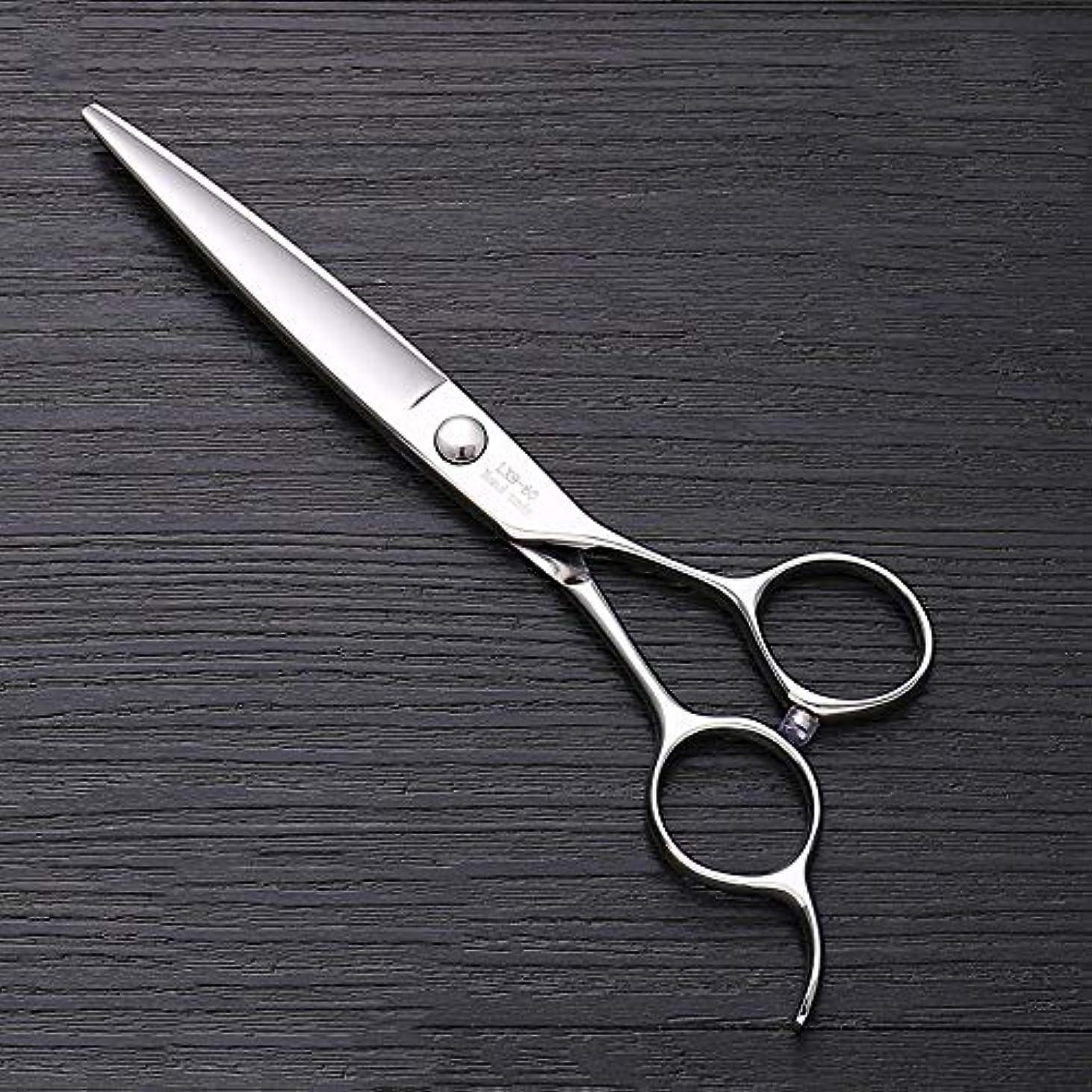 寝室を掃除する口頭証書6インチ440 Cステンレス鋼はさみ理髪はさみ、ハイエンドファッション理髪はさみ ヘアケア (色 : Silver)