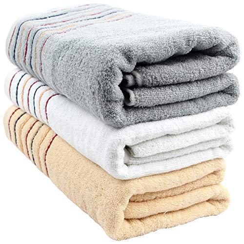 バスタオル セット 人気 安い 大判 吸水 3枚 柔らかい バスタオル 家庭用 ふわふわ 肌触り良い 抜群な吸水性と通気性 サイズ70×140cm