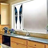 TecBillion プライバシーウィンドウフィルム 装飾用 邪眼 ガラス用 接着剤不使用 鮮やかなイラスト 全景 エネルギー ファンタジー マジック 24''x70'' YO_03_12_Q0404_024689