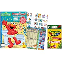 Sesame Street Potty Time Coloring and Activity Book withフルカラーチェックリストとPotty Time Progressチャートthat 's 20 x 19インチプラス24 ct Crayolaクレヨン
