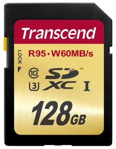 Transcend SDXCカード 128GB UHS-I U3対応 (最大読込速度95MB/s,最大書込速度60MB/s) U3シリーズ 4K動画撮...