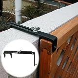 ラティスや木製フェンスをコンクリートフェンスに固定する金具 上部用 1個 [35mm枠対応] ネジ付 LV-CF20