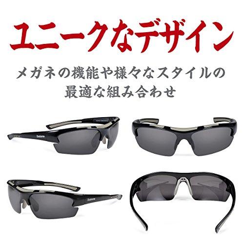 Duduma 偏光レンズ メンズスポーツサングラス 超軽量 UV400 紫外線をカット スポーツサングラス/ 自転車/釣り/野球/テニス/ゴルフ/スキー/ランニング/ドライブ TR62 (ブラック/ブラック)