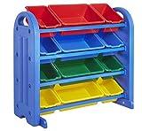 Best ECR4kidsベビー家具 - ECR4Kids 4-Tier Toy Storage Organizer for Kids Blue Review